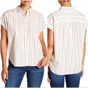 MADEWELL Central Sadie Multi-Stripe Shirt